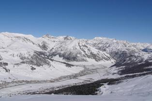 Livigno - view to the valley