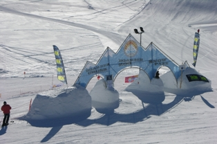 Livigno - snow castle for children on Carosello in Livigno