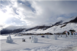 Livigno - ice sculptures in cross-country ski area