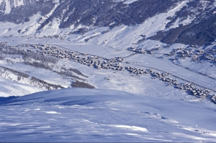 Livigno - view from Carosello 3000 to the Livigno